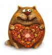 Кот Цветочное сердце бол КК-25А